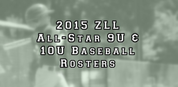 9U and 10U Baseball All-Star Roster Announcement