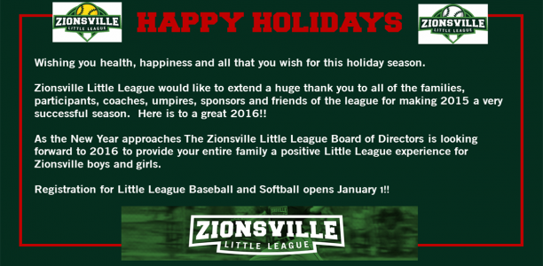 Happy Holidays From ZLL